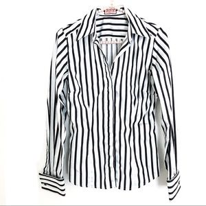 {THOMAS PINK} Striped Button Up French Cuff Shirt